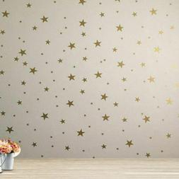 124PCS Home Room Gold Star Wall Stickers Vinyl Decal for Bab