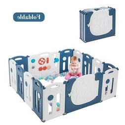 14 Panels Baby Playpen Kids Activity Centre Safety Play Yard