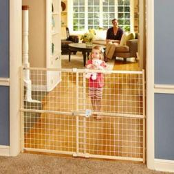 """North States 50"""" Wide Quick-Fit Wire Mesh Baby Gate: Hassle-"""