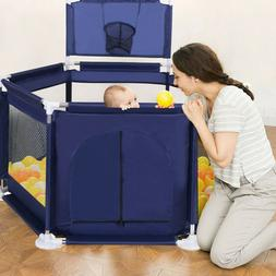 Foldable Baby Playpen Kids Safety Play Center Yard Home Indo