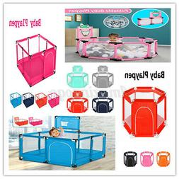 """6 Color 51"""" Portable Playpen Baby Play Yard Home Safety Fenc"""
