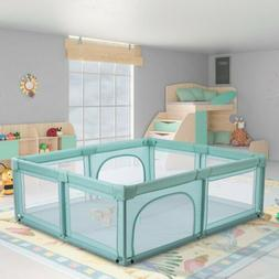 70*60'' Baby Playpen Mesh Net Home Infant Safety Play Yard A