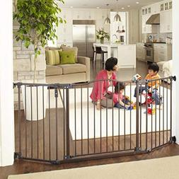 """North States 72"""" Wide Deluxe Décor Baby Gate: Provides safe"""