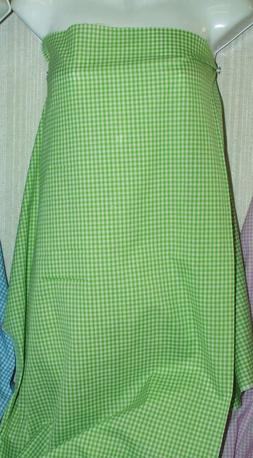 "Apple Green Gingham Cotton Polyester Blend Fabric 44"" Wide S"