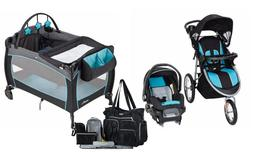 Baby Jogger Stroller with Car Seat Play Yard Nursery Back Pa