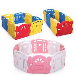 Baby Panel Playpen 8 Panel Foldable Kids Safety Play Fence I