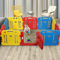 Baby Playpen 10 Panel Foldable Kids Safety Play Center Yard