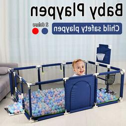 Baby Playpen 12 Panel Toddler Foldable Safety Play Center Ya