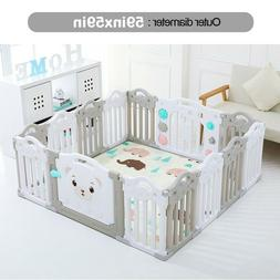 Baby Playpen Kids 14 Panel Safety Play Center Yard Home Indo