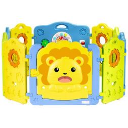 Baby Playpen Kids Activity Center Safety Play Yard 10 Panels