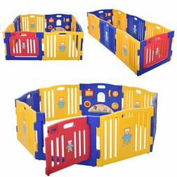 Baby Playpen Kids Panel Safety Play Center Yard Home Indoor