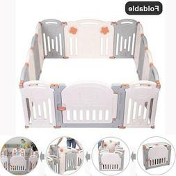 Foldable 14 Panel Safety Play Center Baby Playpen Kids Yard
