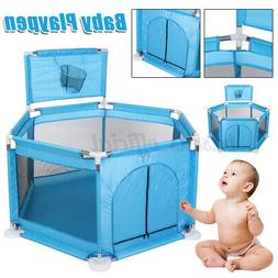 Foldable 6 Panels Safety Play Center Yard Baby Playpen Kids