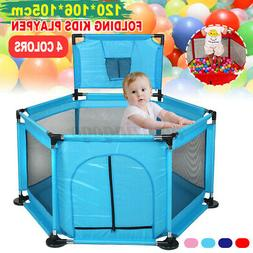 Foldable 6Panel Safety Play Center Yard Baby Playpen Kids In
