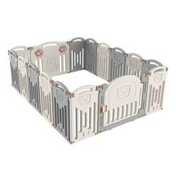 Foldable Baby Playpen Kids 16 Panel Safety Play Center Yard