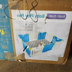 Baby Care Funzone Play Pen - Skyblue - Approx 31.6 square fe