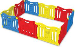 BABY CARE Funzone Playpen in Red/Yellow/Blue