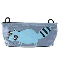 Playpen Baby® Gray Embroidered Blue Raccoon Hanging Strolle