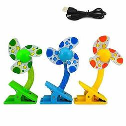 Hot USB/Battery Clip-on Baby Mini Stroller Fan for Strollers