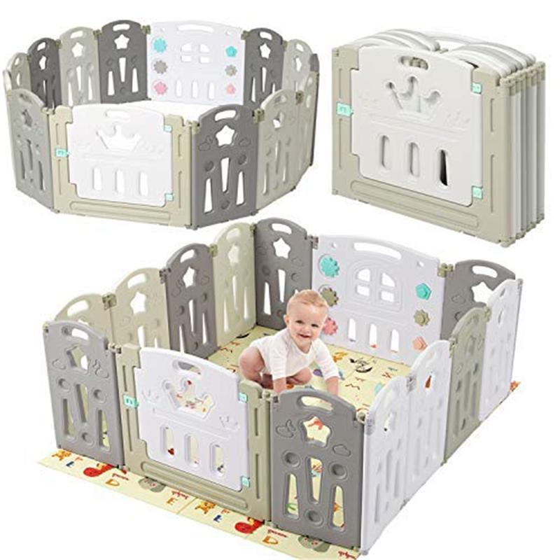 14 Playpen Safety Play Pen W/ Play New
