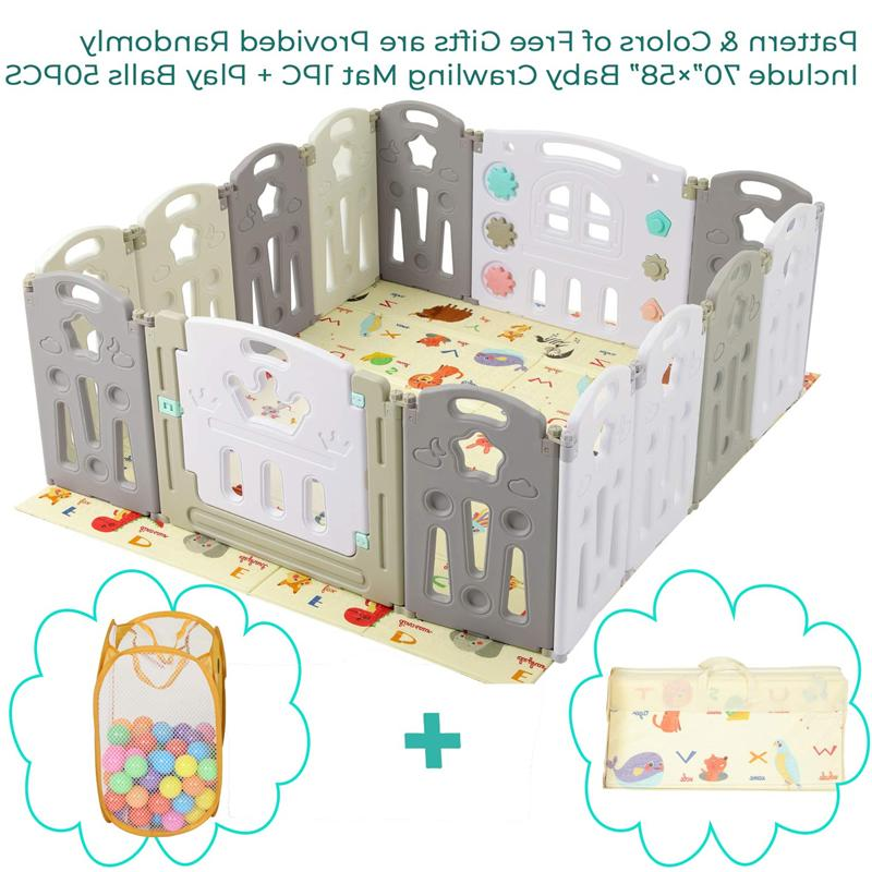 14 panel foldable baby playpen safety play