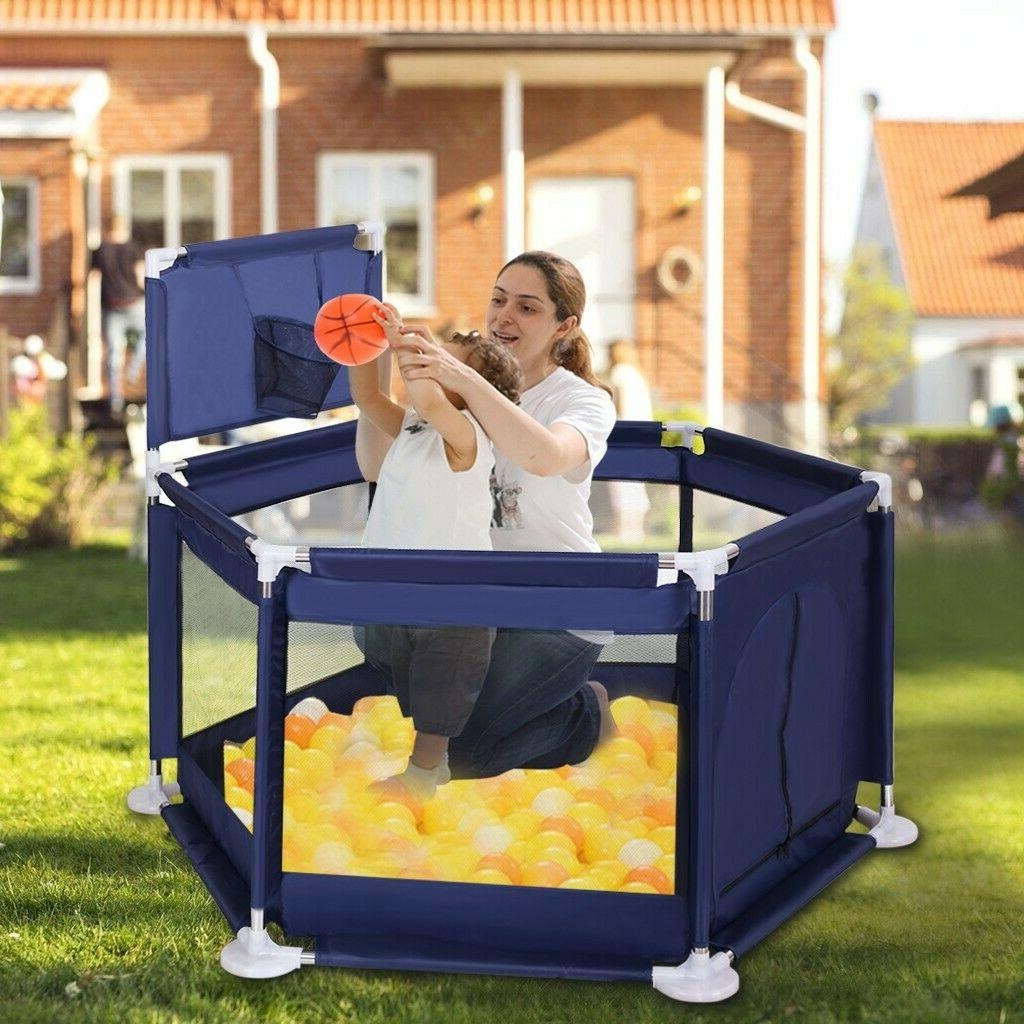 Foldable Baby Playpen Safety Play Center Home US