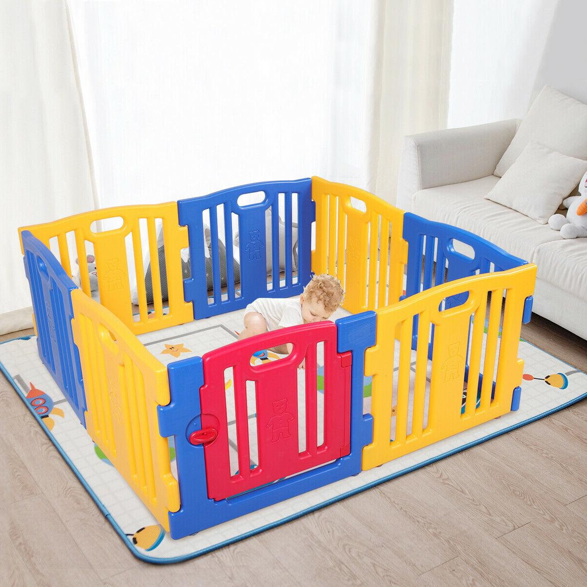 8 Panel Play Playpen Center Home