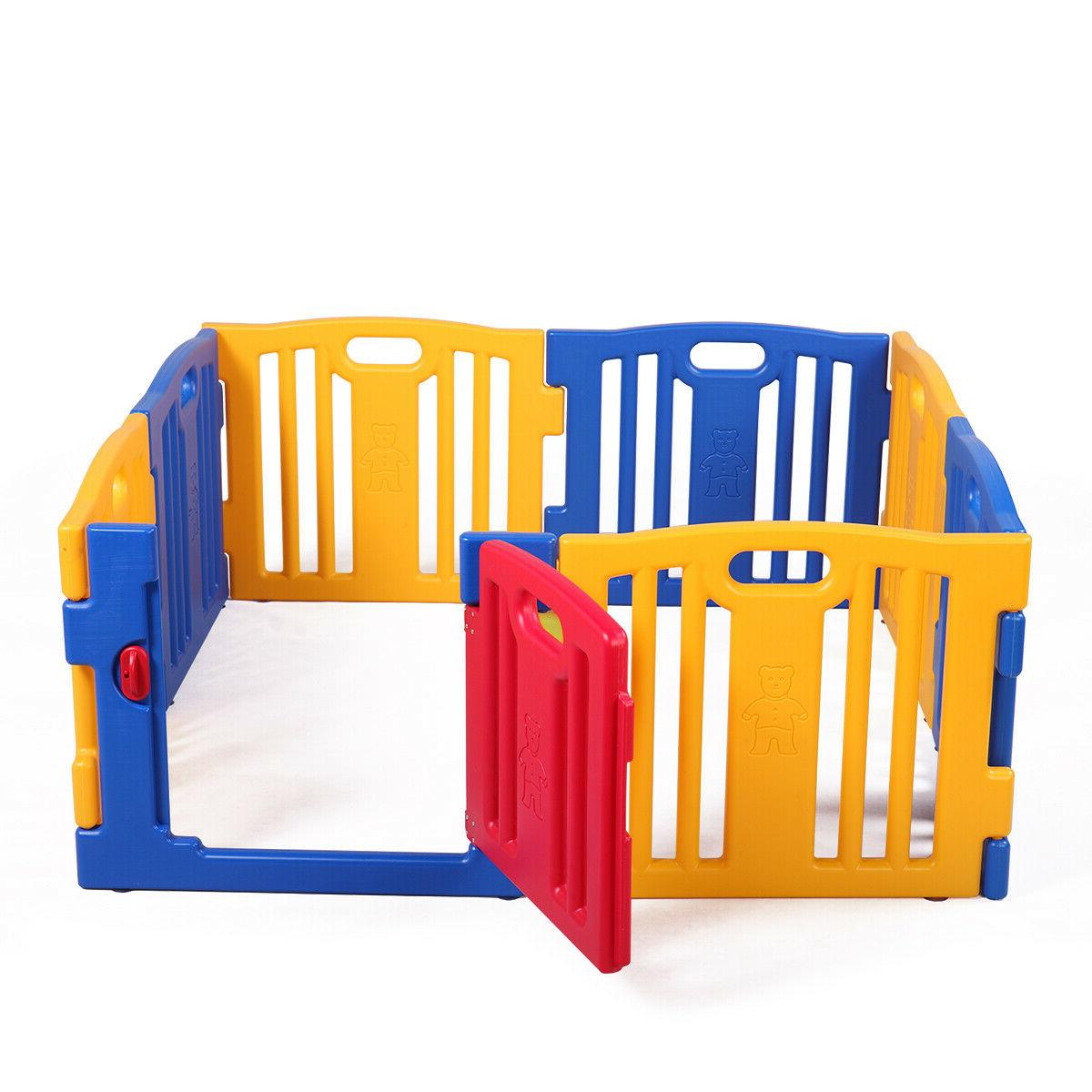 8 Panel Safety Play Kids Playpen Home