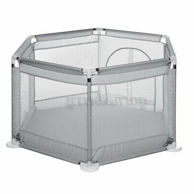 Baby Playpen Interactive Play Playard Ball Safety Gate Fence