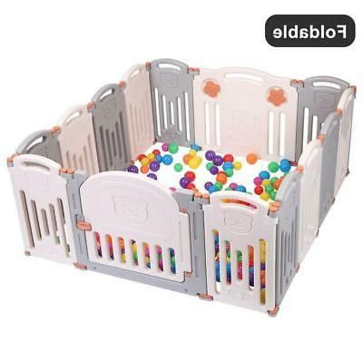 Foldable Panel Play Center Kids Yard Home Outdoor