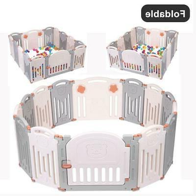 foldable baby playpen kids 14 panel safety