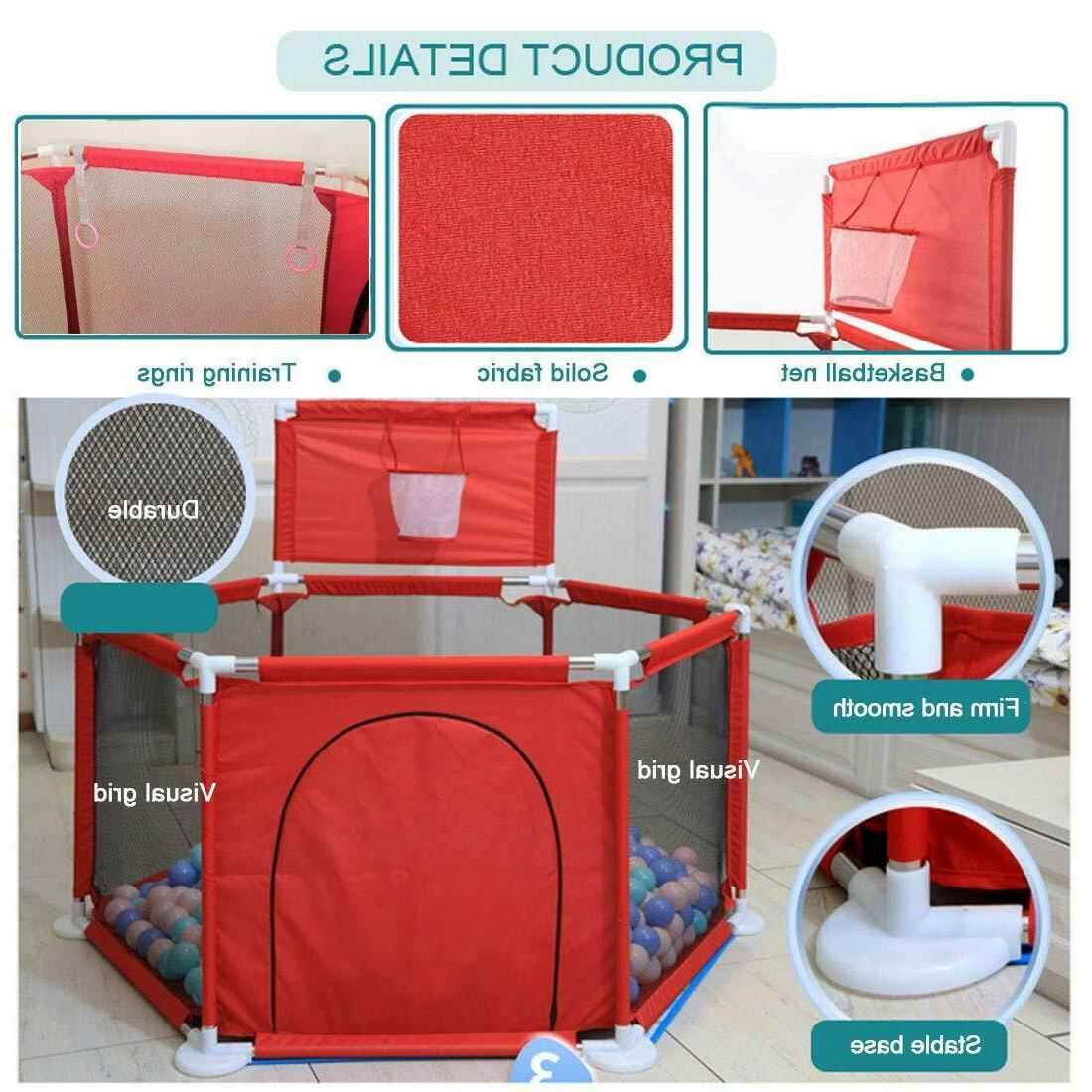 Foldable Safety Fence Activity Center Play Yard Pen
