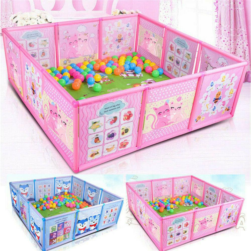 Cartoon Children Kids Play Pen Fence Baby Safety Pool Baby G