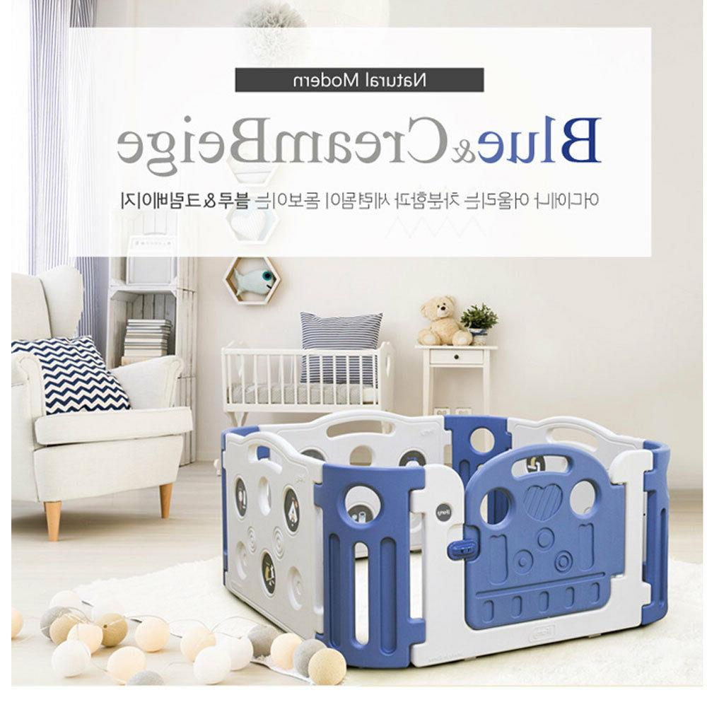 iFAM Deluxe Learnung Babyroom Safefence Playpens/New Blue Color/Basic