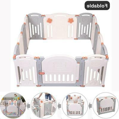 foldable 14 panel safety play center baby