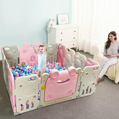 Home Panel Playpen Safety Play Yard Frog Girls