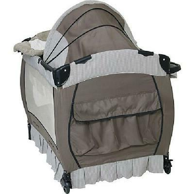 Portable Infant Playpen Changing Table W/ Wheels
