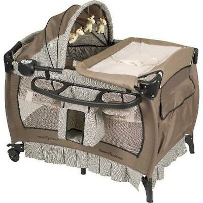 portable baby infant bassinet playpen crib changing