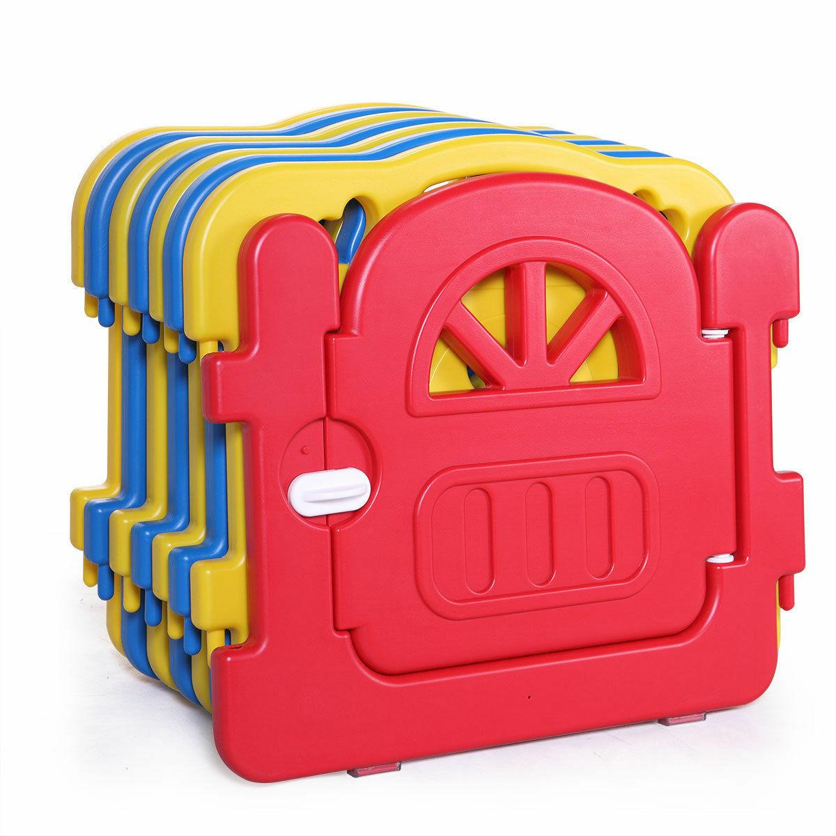 Baby 8 Foldable Kids Safety Play Fence