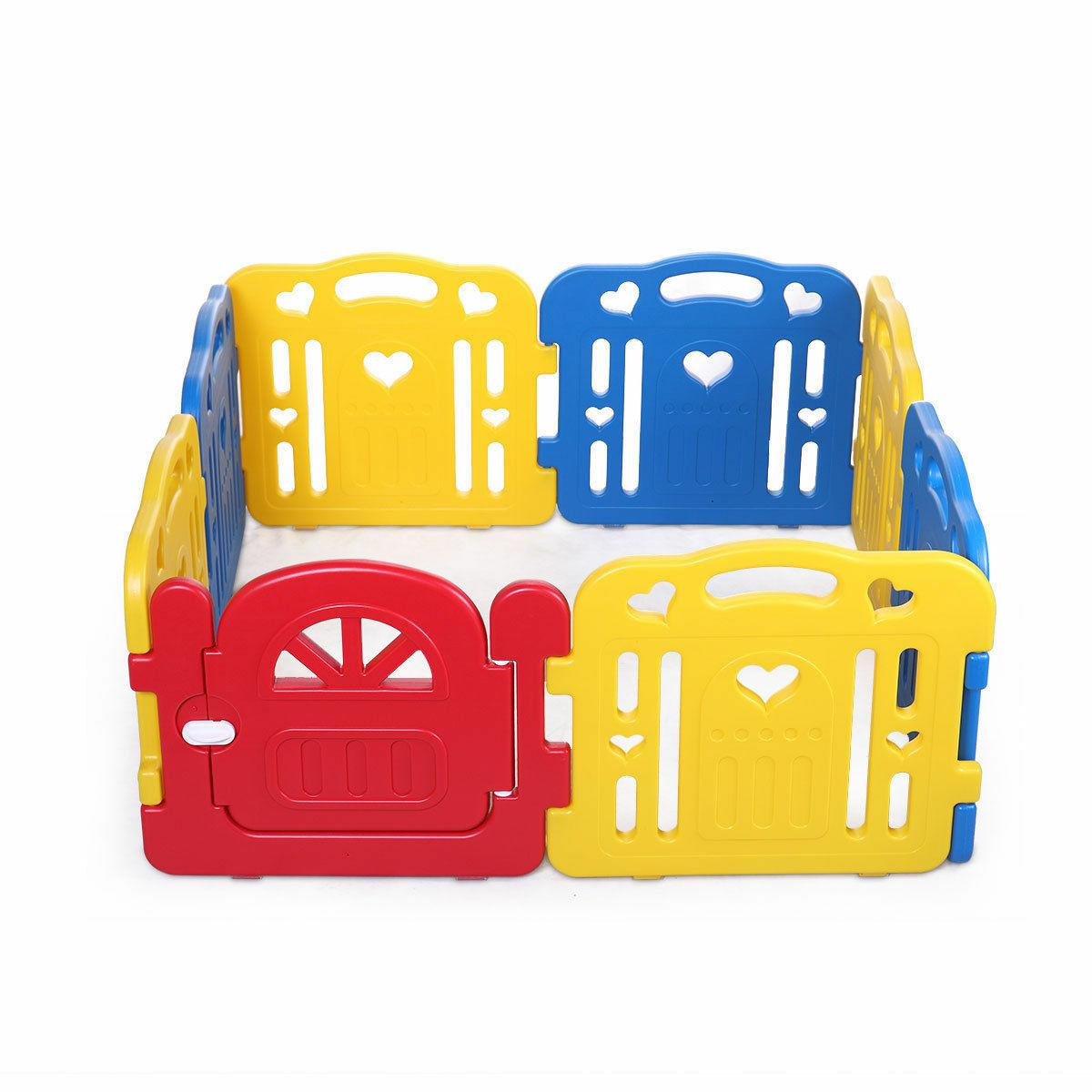 Baby Playpen 8 Foldable Safety Fence