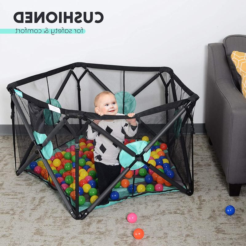 Portable Playard With Cushioning For Indoor And