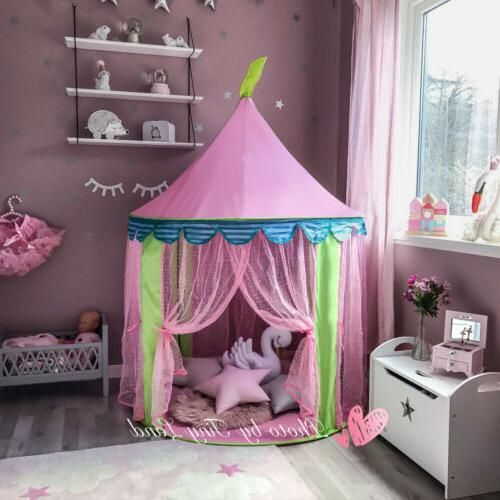 Princess Castle Girl Tent Fairy Play House Indoor Outdoor Gift