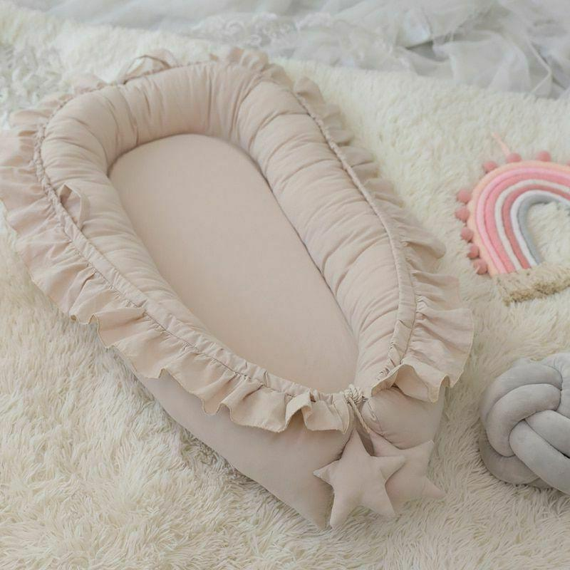Removable Sleeping Baby Bed Crib Pillow Travel Infant
