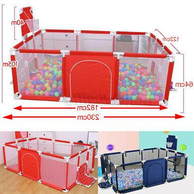 Safety Playpen Yard Toddler Folding Out/Indoor