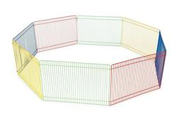 Prevue Pet Products Multi-Color Small Pet Playpen 40090 9 pa