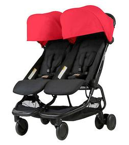 Mountain Buggy Nano DUO Double Stroller In Ruby Brand New!!