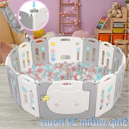 New 14 Panel Safety Play Center Yard Baby Playpen Kids Home