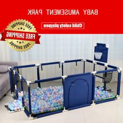 Playpen for Children - Safety Stainless Steel Fence Kids Wil