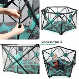 Playpen Portable Playard with Cushioning for Safety, for Tra