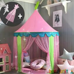 Tiny Land Play Tent Kids &Fairy Stick Princess Castle Play H